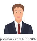 Businessman with suit and tie standing confidently - VECTOR 63682892