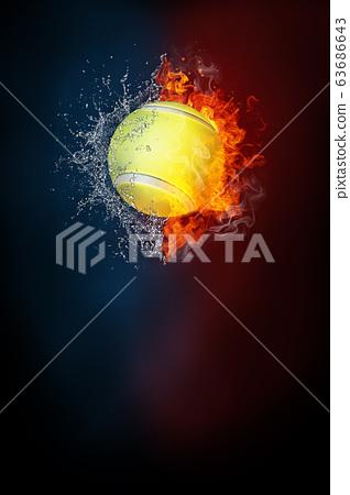 Tennis sports tournament modern poster template. 63686643