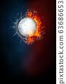 Golf sports tournament modern poster template. 63686653