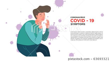 A man got symptom corona virus, covid -19 63693321