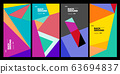 Vector colorful geometric retro color background for poster and banner 63694837