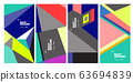 Vector colorful geometric retro color background for poster and banner 63694839