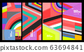 Vector colorful geometric retro color background for poster and banner 63694841