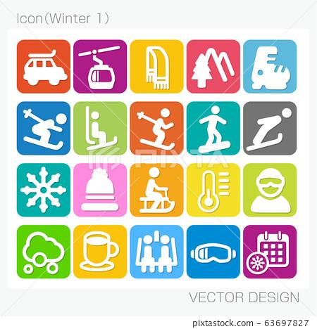 아이콘 겨울 (Winter-1) Vector Design 63697827