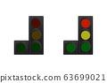 Set of traffic lights. 63699021