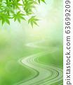Background-Japanese-Japanese-Japanese pattern-Japan-Spring-Early summer-Summer-Autumn leaves-River-Green 63699209
