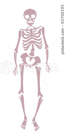 Illustration of a distorted skeleton 63700195