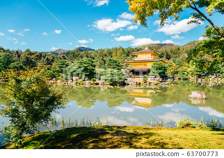 Kinkaku-ji temple, Golden pavilion in Kyoto, Japan 63700773
