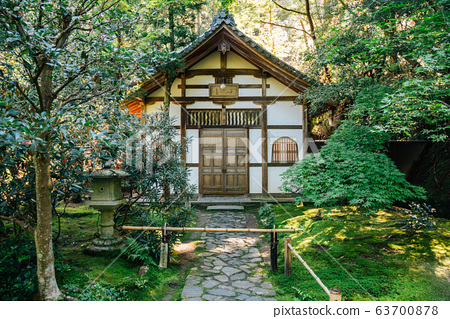 Honen-in Temple traditional architecture in Kyoto, Japan 63700878