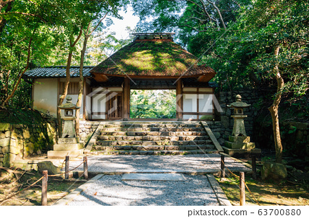 Honen-in Temple traditional architecture in Kyoto, Japan 63700880