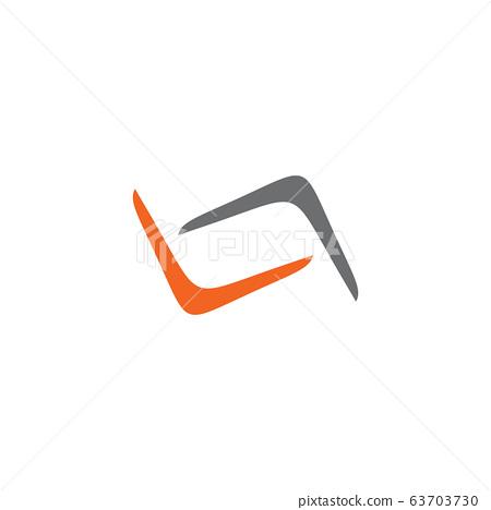 Boomerang weapon icon logo design vector template 63703730
