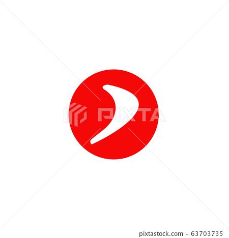 Boomerang weapon icon logo design vector template 63703735
