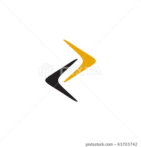 Boomerang weapon icon logo design vector template 63703742