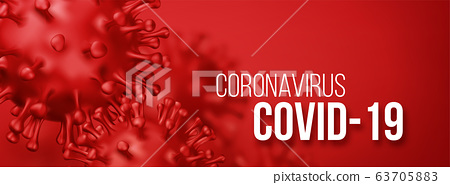Coronavirus 2019-nCov novel coronavirus concept background. Realistic Vector illustration 63705883