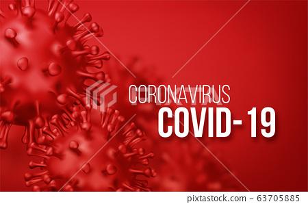 Coronavirus 2019-nCov novel coronavirus concept background. Realistic Vector illustration 63705885