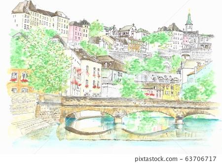 세계 유산의 거리 · 룩셈부르크 아루젯토 강 구도 63706717