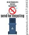 prohibition of mercury dumping. flat style poster 63718463