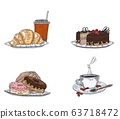 selection of confectionery sweets. doodle sketch 63718472
