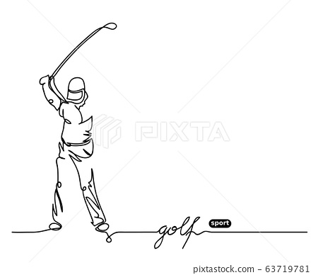 Golf player simple vector background. 63719781