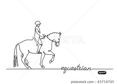 Equestrian sport, horse show, vector background. 63719785