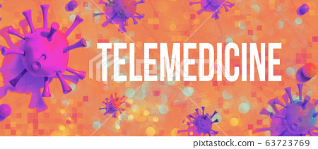 Telemedicine theme with viral objects 63723769
