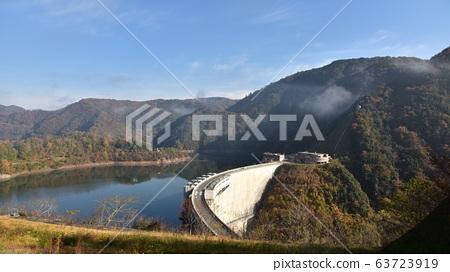 누쿠이 댐 龍姫湖 가을 경치 63723919