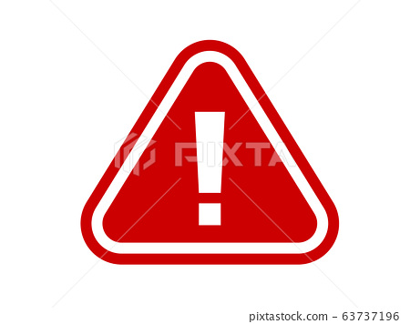 The red stop warning sign flat icon street symbol vector format 63737196