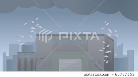 도산 공장 회사 선반 파탄 부채 일러스트 63737355