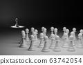 一群棋子和一個被排斥孤立的棋子 63742054