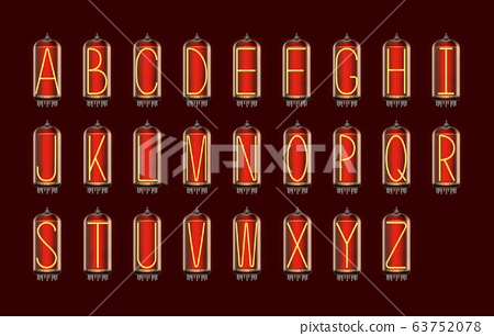 Nixie tube indicator lamp with Alphabet letters 63752078