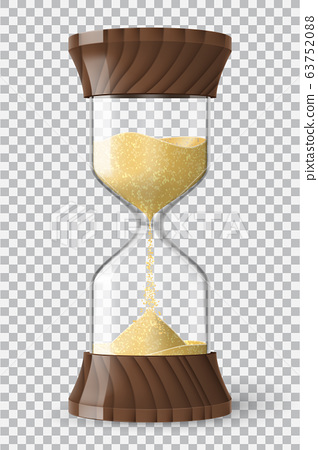 Realistic hourglass clock with transparency 63752088