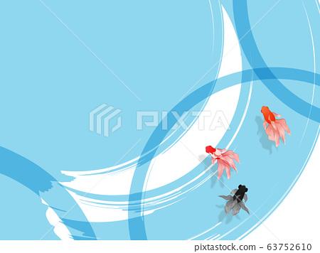 Swimming goldfish 63752610