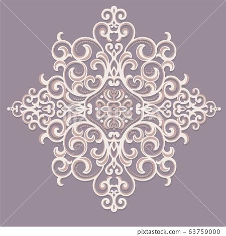 美麗優雅復古的蕾絲巴洛克宮殿圖案 63759000