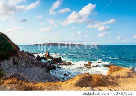 seascape with rocks and cliffs. beautiful scenery 63767313