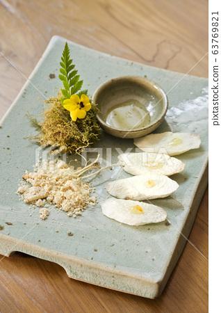 고급 한식 요리, 마,유자,인삼 63769821