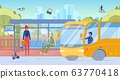 People Character at Bus Stop for Public Transport 63770418