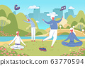 Senior Old People Practise Chinese Qigong System. 63770594