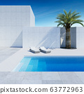 luxury modern backyard with a swimming pool 63772963