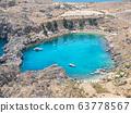 St Pauls Bay near Lindos Acropolis 63778567
