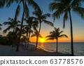 Varadero Beach Sunset with Palm Trees 63778576