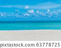 White sand beach background. 63778725