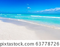 Varadero beach seascape on sunny day 63778726