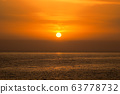 Beautiful Sea Orange Sunset Background. 63778732