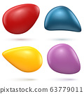 Smooth 3D Shapes on White Background 63779011