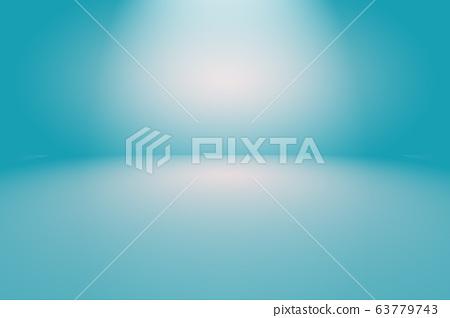 Abstract Luxury gradient Blue background. Smooth Dark blue with Black vignette Studio Banner. 63779743
