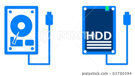 硬盤驅動器 illustration 數字動畫 63780394