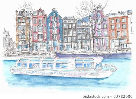 세계 유산의 거리 · 네덜란드 암스테르담의 17 세기 운하 63782006