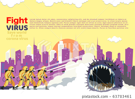 Vector illustration fight covid-19 corona virus. 63783461