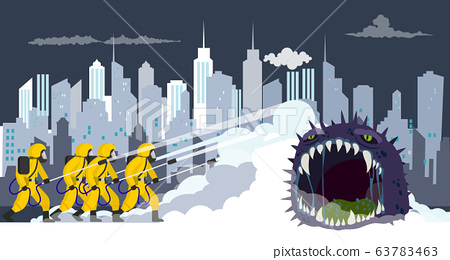 Vector illustration fight covid-19 corona virus. 63783463