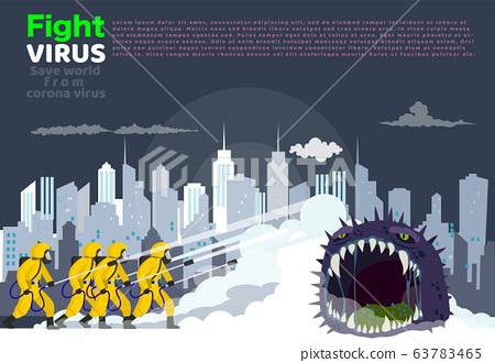 Vector illustration fight covid-19 corona virus. 63783465